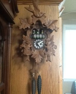 Albert Schwag One Day Squirrel Birds Cuckoo Clock