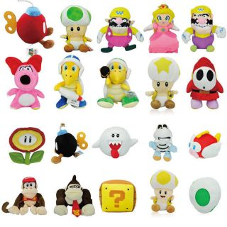 Mario Plush Figure Toy Doll Large Collection Gift for Kids