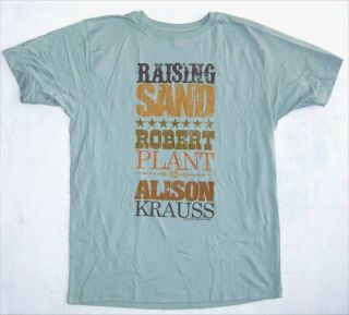Robert Plant Alison Krauss Raising Sand T Shirt XL New