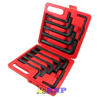 12 Pcs Jumbo Hex Key Allen Wrench Set Large Metric SAE Case Automotive