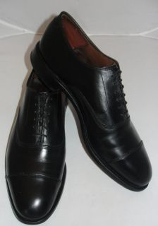 Allen Edmonds Park Avenue Black Cap Toe Balmoral Oxford 9 D