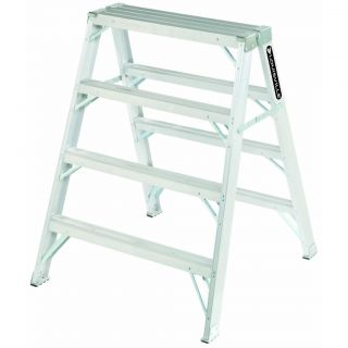 Louisville 3 Foot Aluminum Sawhorse Step Ladder Type 1A 300 lb Rating
