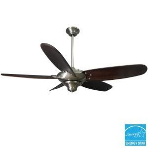description the hampton bay altura 56 in brushed nickel ceiling fan