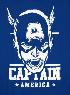 Captain America Sketch Marvel Comics Superhero T Shirt Tee