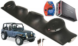Stinger Jeep Wrangler Rockford R152SPEAKERS Amp Sound Bar Pod