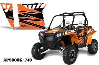 AMR Racing Graphic Decal Kit Pro Armor Doors Polaris RZR 900 XP 900XP