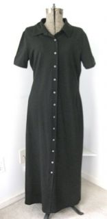 hanna Andersson Womens Black Stretch Jersey Knit Full Length Polo