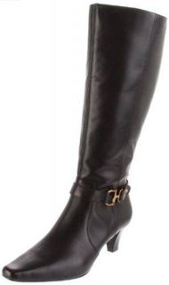 Anne Klein Garland Wide Calf Womens Mid Calf Boots Sz 8 5 M Dark Brown