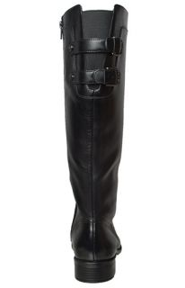 Anne Klein Womens Boots Keera Black Leather Sz 8 5 M