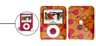 Apple Pattern Hard Plastic Cover Case Shell Yellow for iPod Nano 3G