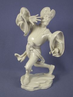 Antique Allach German Porcelain Morisken Prophet Dancer Figurine