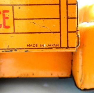 antique Toy Tin Friction Truck Road Service Japan