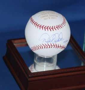 Derek Jeter Signed Autograph Baseball 1st Yankee 3000 Hits The Captain