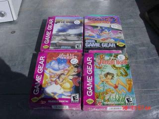 WHOLESALE LOT OF 4 SEGA GAME GEAR GAMES BOXED FACTORY SEALED WOW