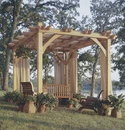 Build To Suit Pavilion Pergola Plans, Trellis, Arbor S