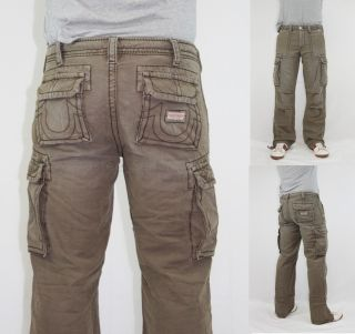 True Religion Brand Jeans Mens Casual Anthony Cargo Pants Trousers