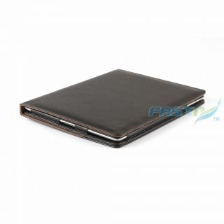 Smart Black Leather Case Cover for Apple iPad 2 Screen Protector