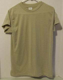 Military Army USMC T Shirt Gi Moisture Wicking Sand Large New Short