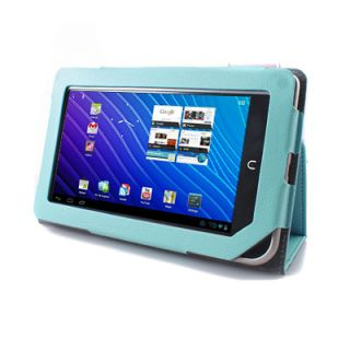 Aqua Blue Leather Case Cover for  Nook Color Tablet