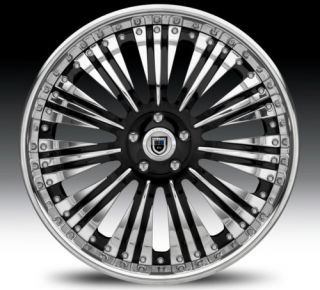 20 asanti AF136 Black Chrome Wheels Rims 2 Piece Tone