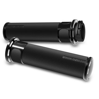 Arlen Ness Fushion Grips for Cable Style Bars Slot Track Pair Black