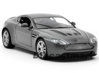 24 2012 ASTON MARTIN V12 VANTAGE NEW DIECAST MODEL CAR METALLIC GREY