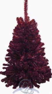 Garnet Red & Black 4 Ft Mini Artificial Christmas Tree South Carolina