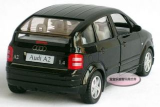 New Audi A2 1 30 Alloy Diecast Model Car Black B112D