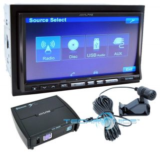 Alpine 50W in Dash Double DIN DVD  Car Receiver GPS Navigation USB