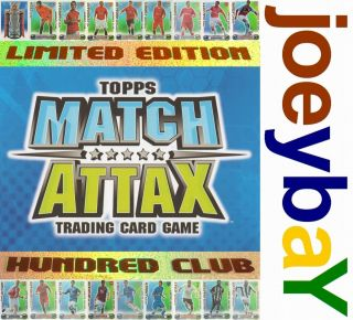 Choose 08 09 Edition or 100 Club Match Attax Card Limited Hundred 2008