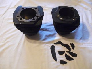 Axtell Cast Iron Cylinders for Harley EVO Motors 3 13 16 Broken Fins