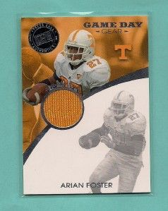 Arian Foster 2009 Press Pass Game Day Gear RC Jersey
