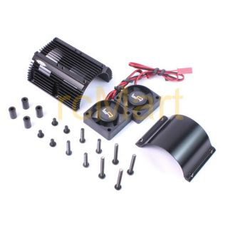 Yeah Racing Heat Sink w Twin High Speed Fans Sets for 1 8 RC Motor Ya