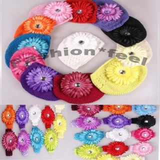 Baby Girl Boy Winter Hats Cap Headband Baby Bobbles Hair Clip Flower