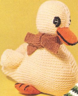 Duck Duckling Baby Toy Stuffed Animal Knitting Pattern