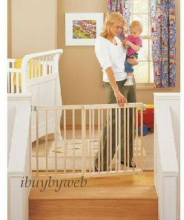 north states wide stairway wooden baby pet gate 4639 keep babies and