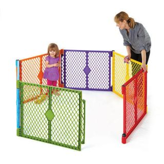 Superyard Baby Play Yard Pen 6 Panel Colorful