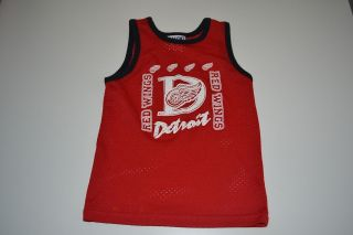 Detroit Red Wings Kids Baby Toddler Basketball Jersey Shirt Tank Top