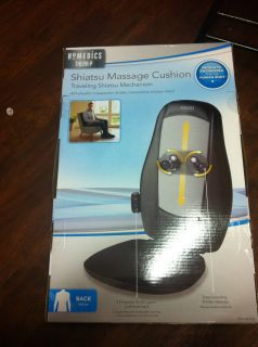 HOMEDICS SHIATSU BACK MASSAGE CUSHION TRAVELING SHIATSU MECHANISM MCS