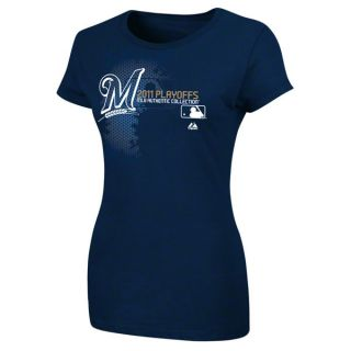 Milwaukee Brewers Authentic Collection Change Up Playoff Womens Shirt