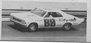 88 Buddy Baker City Chevrolet Charlotte 66 Chevy 1 32nd Scale Slot Car