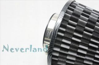 "Car Truck SUV Universal 3"" 75mm High Flow Air Intake Cone Filter"