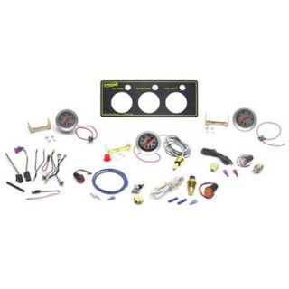 New Speedway Auto Meter Sport Comp 3 Gauge Panel Kit, Oil & Fuel