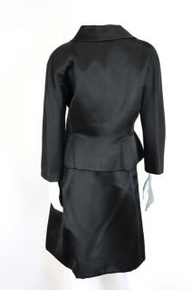 Balenciaga at Socialite Auctions Vintage Black Silk Skirt Suit