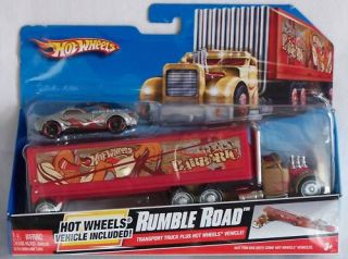 Hot Wheels Transport Truck Rumble Road with Car New