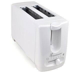 T100 2 Slice Toaster WHITE w Extra Wide Slots for bagels wide bread