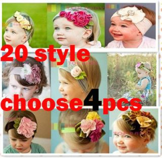 Pcs Headwrap Headband Boy Girls Baby Flower Hair Band
