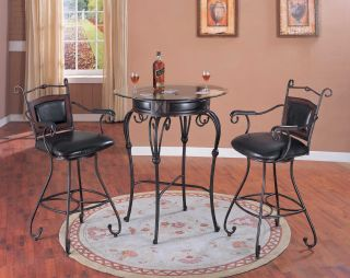 Yuan Tai Sienna 3 PC Pub Set Bar Table 2 Bar Chairs