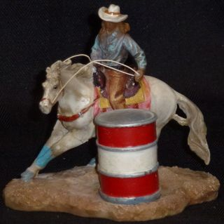 Barrel Racer Girl Statue Western Americana Rodeo