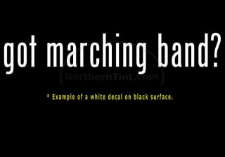 Got Marching Band Vinyl Wall Art Car Decal Sticker